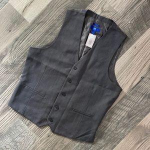 Egara NWT slim fit suit vest gray 100% wool large